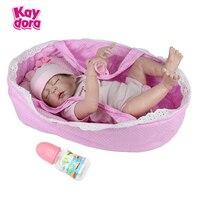 KAYDORA 22 дюймов 55 см Reborn куклы Baby Alive Full силиконовые возрожденная кукла, Реалистичная Спящая девочка младенцев игрушки подарок на день рождени