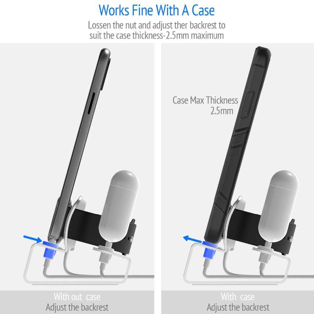 אלומיניום 3in 1 טעינת Dock עבור iPhone 11 פרו XR XS מקסימום 8 7 6 Apple שעון Airpods מטען מחזיק עבור iWatch Stand Dock תחנה