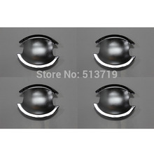 Dongzhen 4X ABS Chrome Car Door Handle Bowl Cover Protector for Mitsubishi Lancer-ex 2010-2013 Car Styling Exterior Accessories