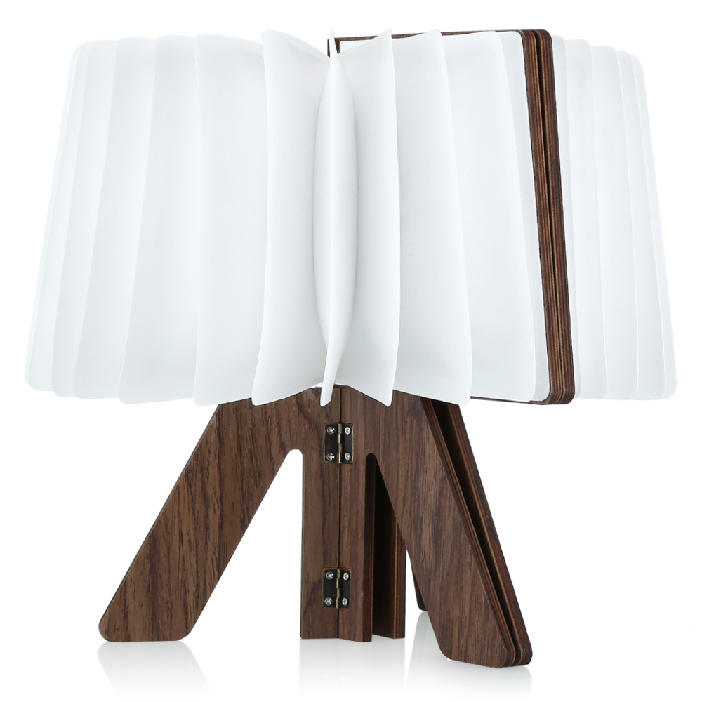 Lamps, Lighting & Ceiling Fans Wooden Folding Book Lamp Home & Garden Usb Rechargable R Shaped Lightening Warm/cool...