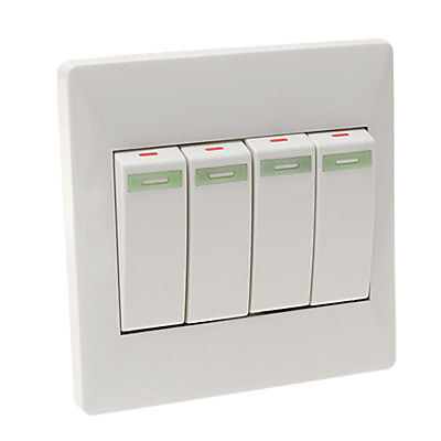 4 Switch Plate Endearing 4 Gang Button Wall Mount Light Lamp Switch Plate Coverin Switches Inspiration Design