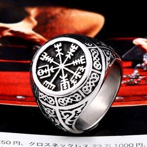 Байкерские мужские кольца Beier, набор викингов из нержавеющей стали 316L для Skandinavia charm norse, кольцо для Руна викингов, Прямая поставка, LLBR8-549R