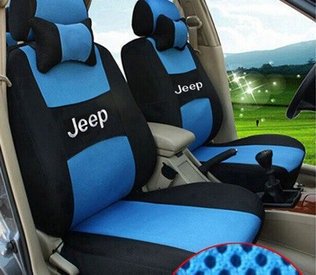 Dedicated Logo Car Seat Cover FrontRear Complete 5 Set For JEEP Wrangler Patriot Cherokee Compass Commander Covers In Automobiles From