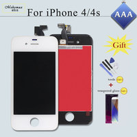Mobymax 100 AAA Pantalla Ecran Module For IPhone 4S 4 LCD Display Touch Screen Digitizer Assembly