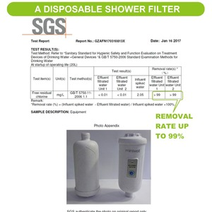 Image 5 - Miniwell Hard water filter shower head   chlorine filter to remove chlorine in Bathroom