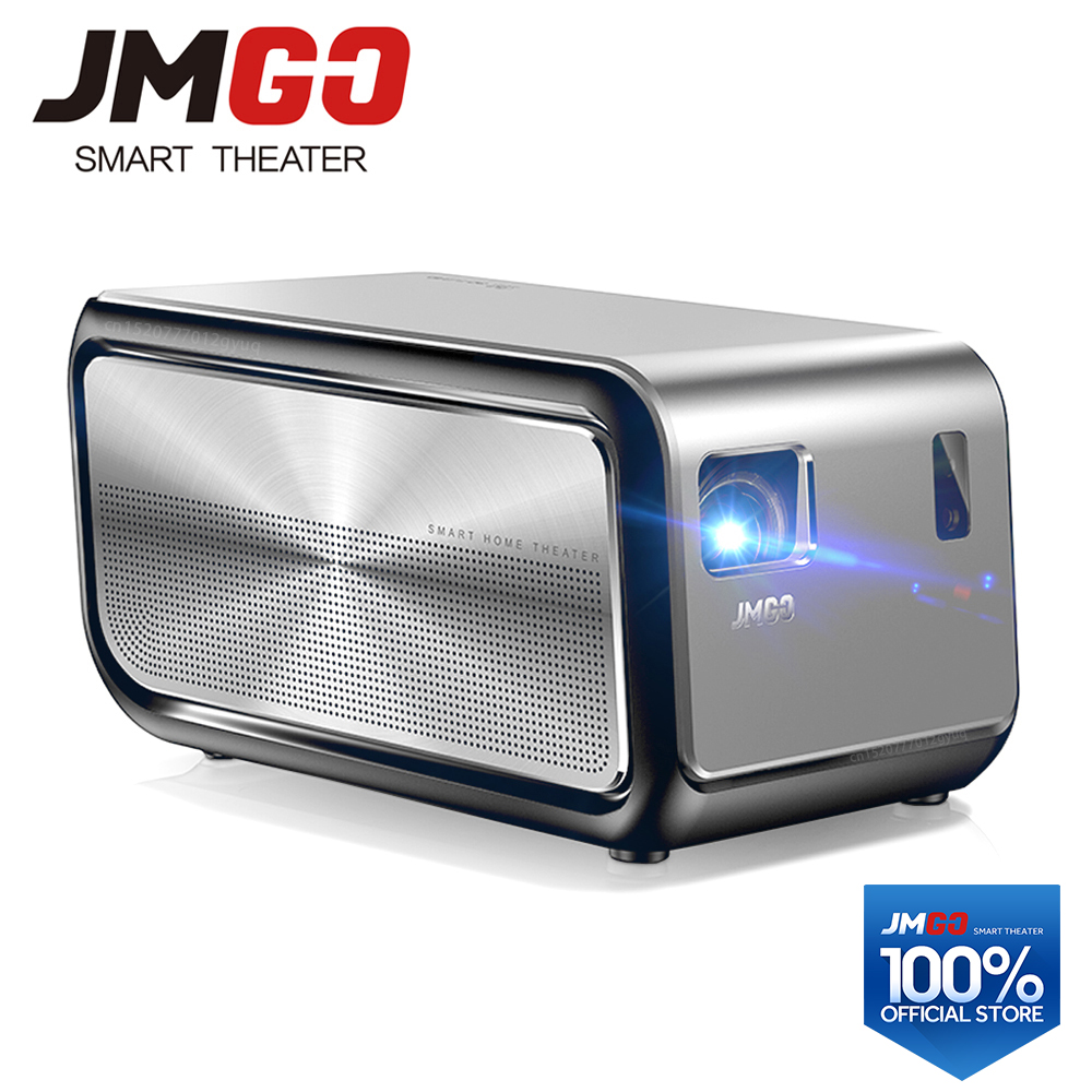 JMGO J6S, Full HD Android Proiettore, 1920x1080 p, 1100 ANSI Lumen, set in WIFI, HIFI Speaker Bluetooth. Smart Beamer, Supporto 4 K