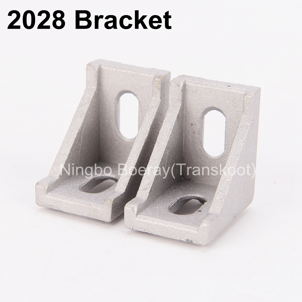 50pcs CNC DIY ACCESSORIES 2028 2020 Corner Angle L Brackets Connector Fasten Fitting Long Hole for Aluminum Profile 2020 20x20 l z 50 aluminum alloy l shaped assembling fixing sheets for diy model silver 50 pcs
