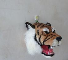 new Simulation tiger head toy polyethylene&furs tiger head model gift about 30x30x30cm y0359