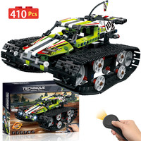 Remote Control Tracked Racer Car Motor Bricks Compatible LegoINGLY Technic RC Power Function Building Blocks Toys For Children