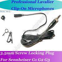 in Stock ! MICWL Lavalier Lapel Microphone For Sennheiser EW G1 G2 G3 with Metal Cap Hat