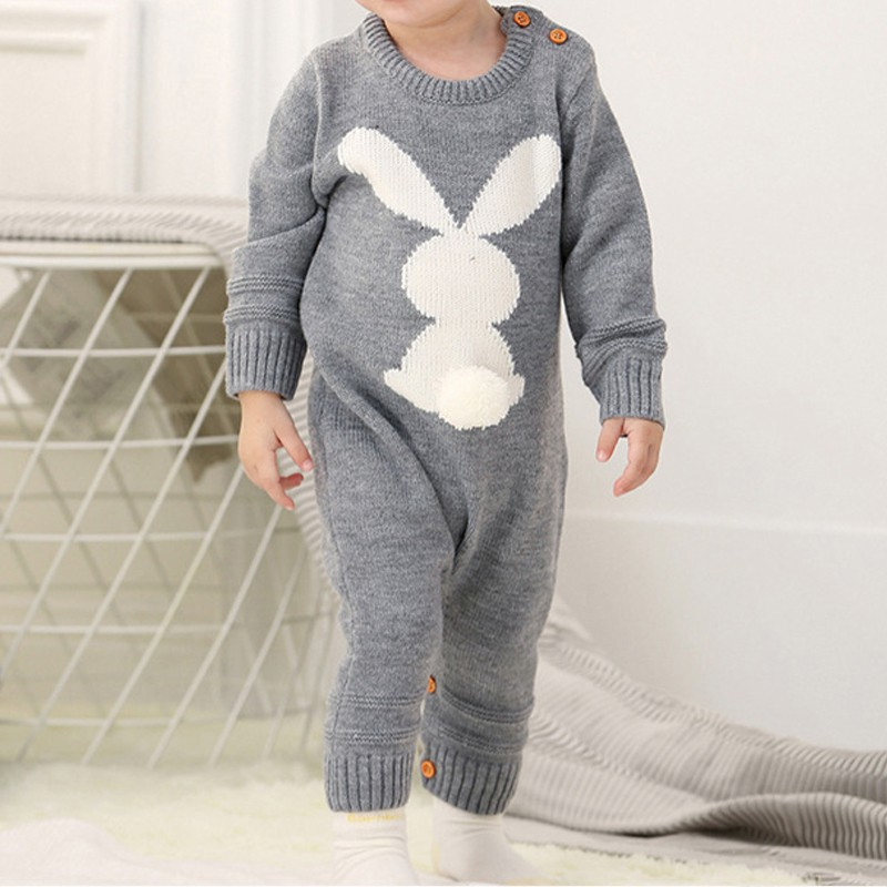 HTB1kPg1Xh rK1RkHFqDq6yJAFXav Baby Rompers Set Newborn Rabbit Baby Jumpsuit Overall Long Sleevele Baby Boys Clothes Autumn Knitted Girls Baby Casual Clothes