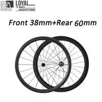 gigantex 60mm carbon clincher wheelset front 38mm rear 60mm carbon wheels for road bikes cheap carbon wheels
