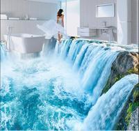 3d Flooring Wallpaper Custom Waterproof 3d Pvc Flooring Mountain Waterfalls 3d Room Bathroom Flooring 3d Wall