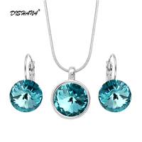Accessories Multicolor Wedding Jewelry Sets For Women Bridesmaid Jewelry Set Gold Plated Crystal Vintage Jewelry Set