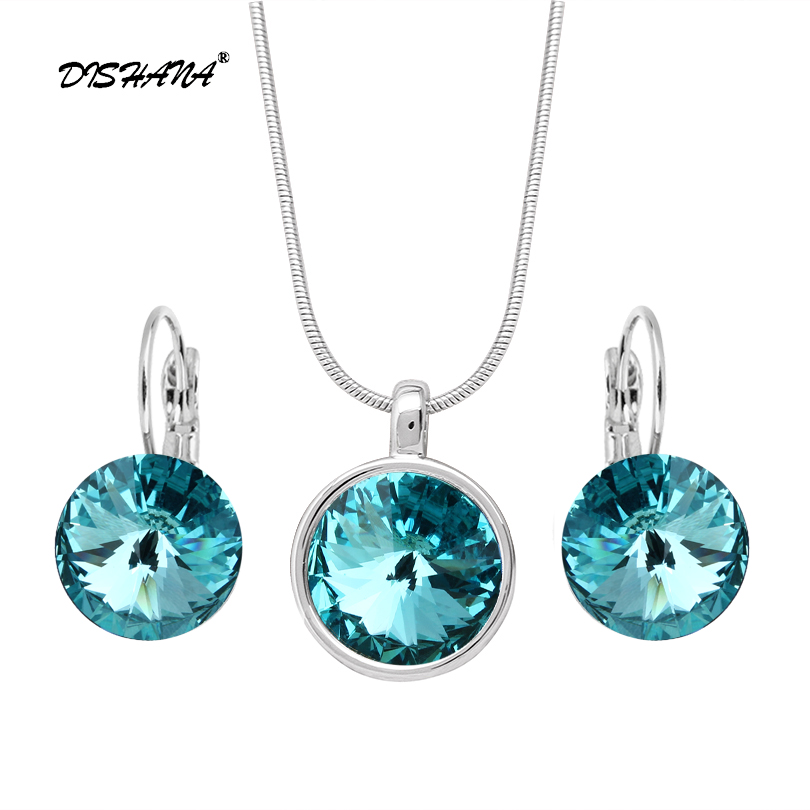 Accessories Multicolor Wedding Jewelry Sets for Women bridesmaid jewelry set Gold -color Crystal Vintage