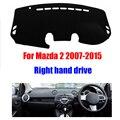 Tampa do painel do carro mat para Mazda 2 2007-2015 anos de mão Direita drive dashmat pad mat traço cobre auto painel de acessórios para
