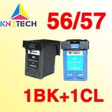 2x чернильный картридж, совместимый с hp56 для hp57 56XL 57XL 5160 5550 5650 5652 9600 9650 9680 450Ci / 450Cbi / 450wbt