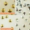 O ENVIO GRATUITO de 4 Estilos de Prata/ostra e shell Glitter de metal do Ouro 3D nail art Adesivos Decoração Do Punk Quadrados Rebite pregos