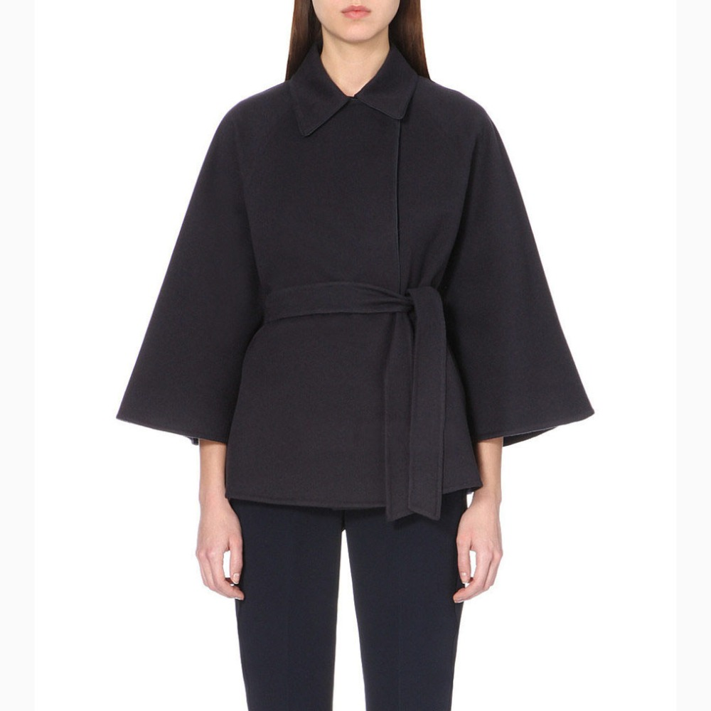 Casual Cloak Type font b Women b font Woolen font b Jacket b font Solid Color