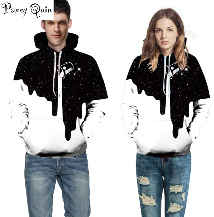 Milk cup digital print 3d Sweatshirts Men/Women Hoodies With Hat Stars Autumn Winter Loose Thin Hooded Hoody Tops men women