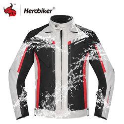 HEROBIKER Autumn Winter Motorcycle Jacket Men Waterproof Windproof Moto Jacket Riding Racing Motorbike Clothing Protective Gear
