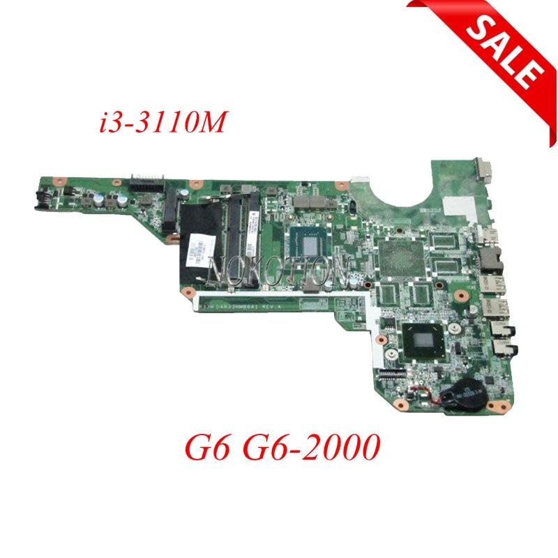 NOKOTION 710873-501 laptop motherboard For HP Pavilion G6 G6-2000 i3-3110M 710873-001 DDR3 DAR33HMB6A1 Main board full testedNOKOTION 710873-501 laptop motherboard For HP Pavilion G6 G6-2000 i3-3110M 710873-001 DDR3 DAR33HMB6A1 Main board full tested