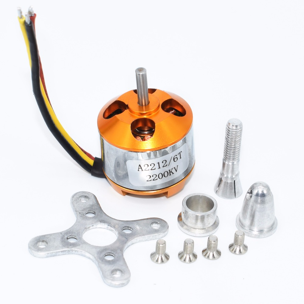 10pcs A2212 KV2200 2200KV RC Brushless motor rc spare parts Firepower for airplane helicopter-in Integrated Circuits from Electronic Components & Supplies