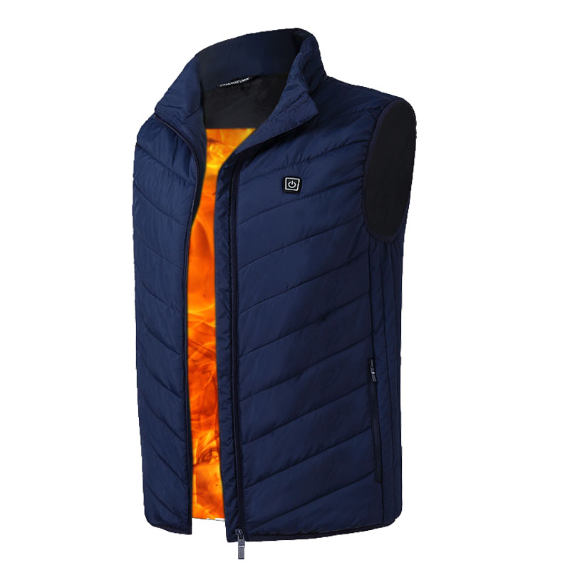 Clothes With Heated Men USB Electric Heated Vest Lower Voltage Adjustable Temperature Waistcoat Thermal Warm Winter Jacket usb ultra thin winter electric heated sleevless hiking vest jacket winter warm down infrared heated outerwear coats slim fit