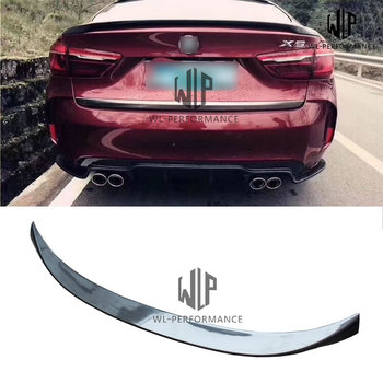 F16 High Quality Carbon Fiber Rear Spoiler Wings Car Styling For BMW X6 F16 Body kit 2015-UP image