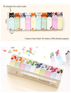 Image 3 - 36 pcs/Lot One point marker Post memo notes Animal birds cat penguin music marker stationery office  School supplies A6783