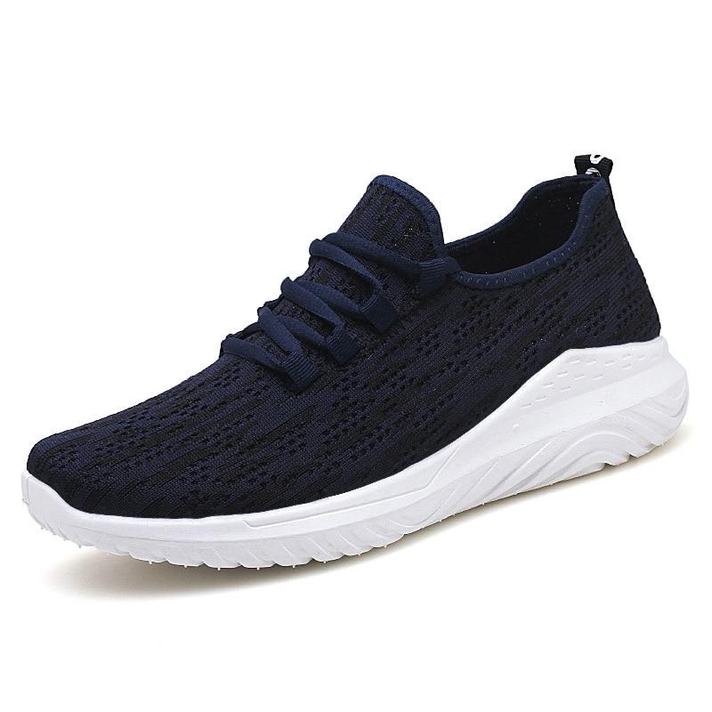 Zapatos ocasionales de los hombres Zapatos tenis tejidos masculinos - Zapatos de hombre - foto 3