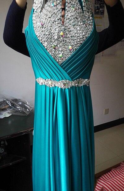 Вечернее платье,, длина до пола, сатиновые Сексуальные вечерние платья для выпускного вечера, элегантные длинные вечерние платья - Цвет: Turquoise