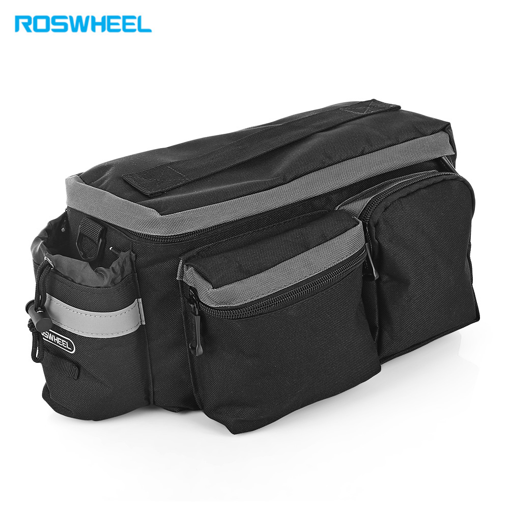ROSWHEEL 6L Multifunctional Mountain Bike Road Bicycle Bag Cycling Rear Rack Tail Seat Pannier bicycle basket 70l cycling bicycle bag bike double side rear rack tail seat trunk bag pannier with rain cover