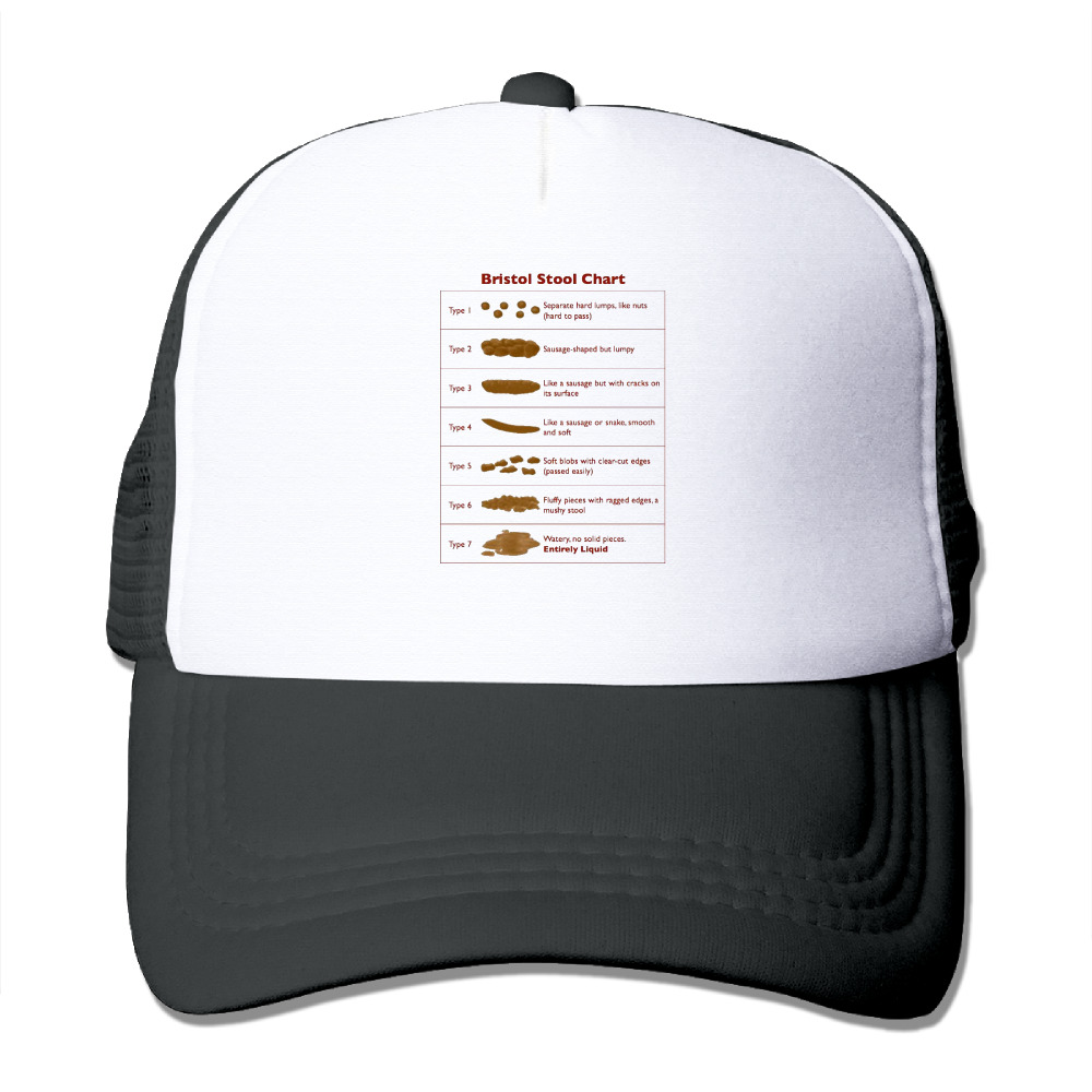 DUTRODU Unisex Baseball caps Mesh Back Bristol Stool Chart