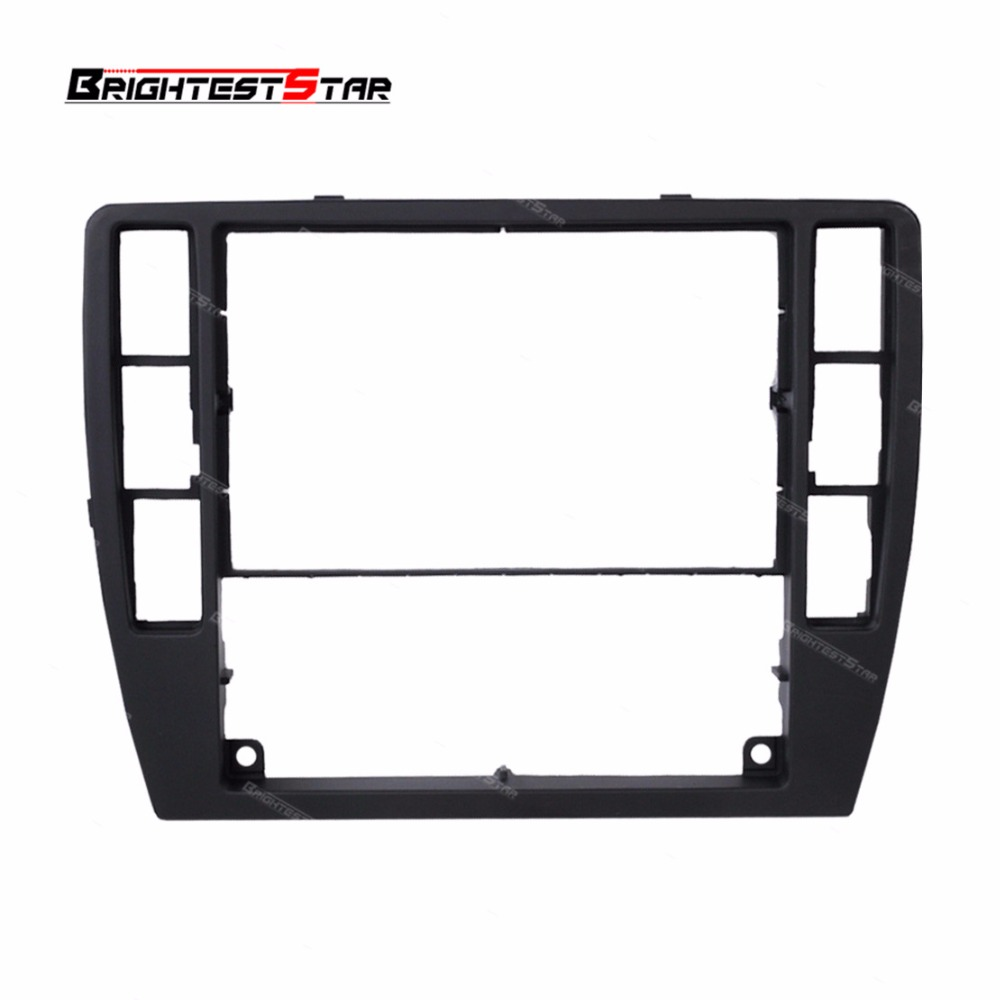 Passat B5 Black Dashboard Center Console Bezel Panel Radio Face Trim Frame Surround For VW Passat
