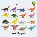 Mr. Froger Dinosaurios modelo conjunto 16 unidades lindo estático de plástico animales decoración regalos de juguetes niños Mini colores pequeña Jurásico 16 unids