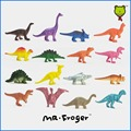 Mr.Froger Dinosaurs model set 16 pieces cute plastic static animals decoration gifts toys kids Mini colors small Jurassic 16pcs