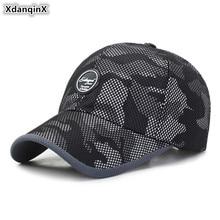 XdanqinX Camouflage Cap Adjustable Size Mens Mesh Breathable Baseball Caps Snapback Adult Womens Fashion Ponytail Hat