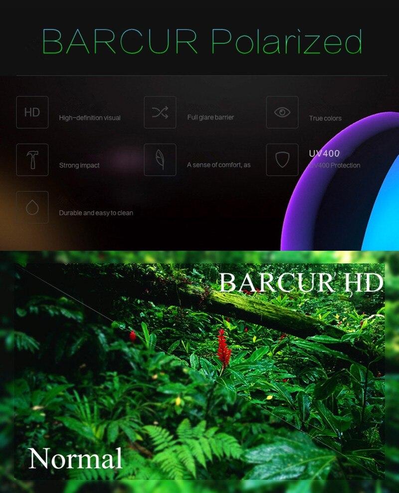 BARCUR Polarized Sunglasses Wood Round Men Women BC7104