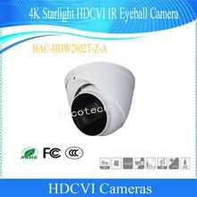 Câmera de Segurança CCTV Dahua Frete Grátis 4 K WDR Starlight HDCVI IR Eyeball Câmera IP67 Sem Logotipo HAC-HDW2802T-Z-A
