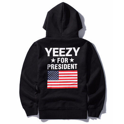 Kanye West Hoodie Yeezy for President Clothing Hip-hop Sweatshirts-Jay Z Yeezus Coat man Hoodies
