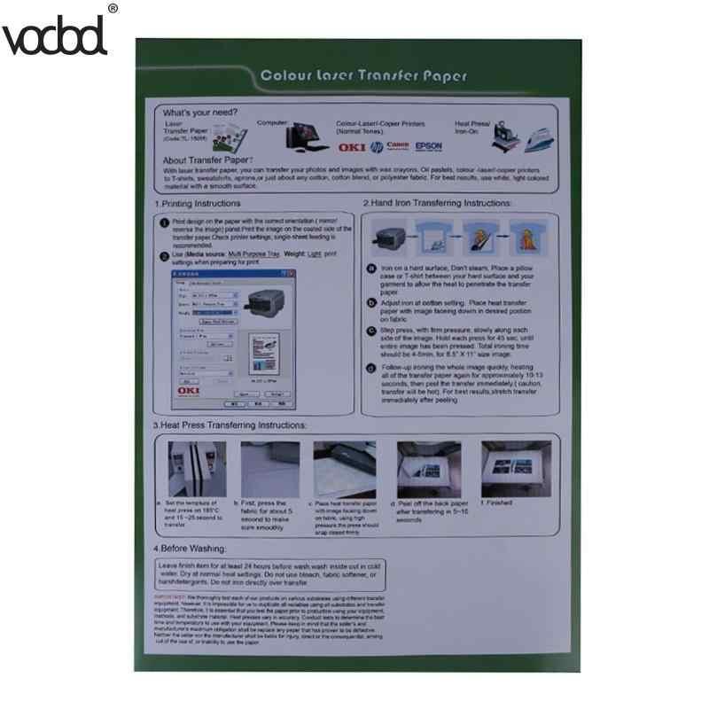 Papel de capina material do auto do plutônio do papel da transferência térmica do laser de 10 pces (30*21.5 cm) para papéis ocos das transferências térmicas da camisa de t