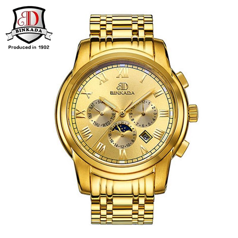 Horloges Heren 2015 BINKADA Army Horloges Volledig Staal Sport - Herenhorloges - Foto 2