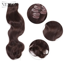 Neitsi 20 7Pcs/Set Curly Clip in Synthetic Hair Extensions M2-33#
