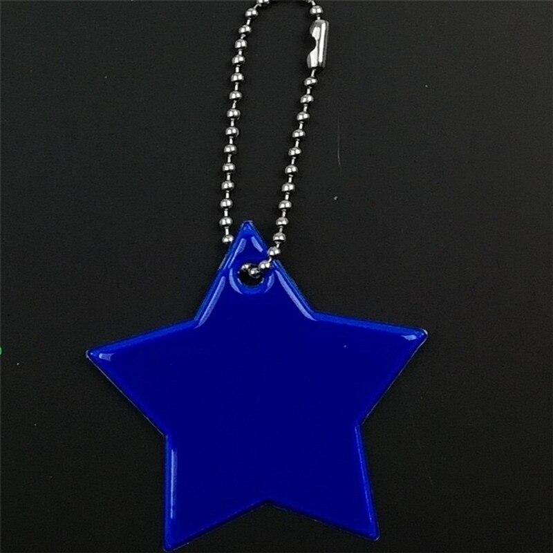 Маленькая звезда сумка брелок милый мягкий ПВХ отражающий брелок, подвеска для машины Шарм сумка Аксессуары для безопасности дорожного движения использования - Название цвета: deep blue