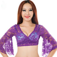 Training Belly Dance Clothing Comfortable Lace Bodysuit For Women Bodycon Top Belly Dance Top