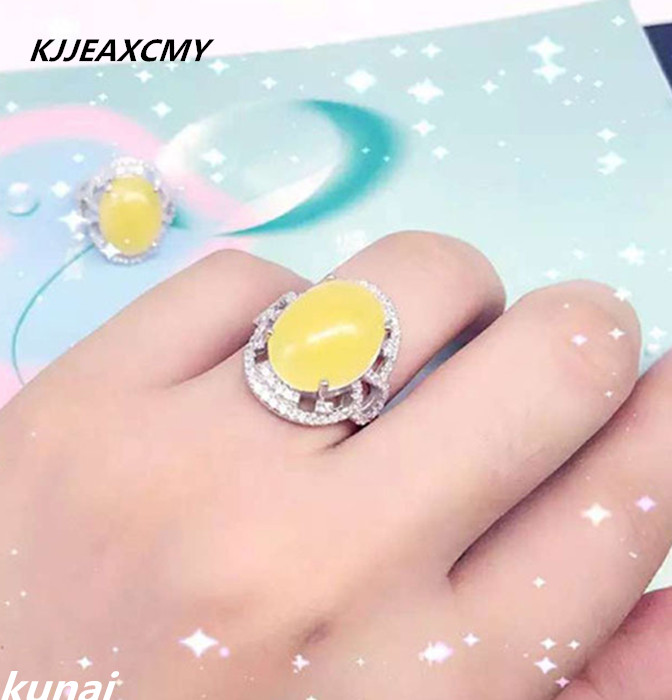 KJJEAXCMY Fine jewelry 925 Sterling Silver Ring female natural beeswax silver jewelry wholesale jewelry accessoriesKJJEAXCMY Fine jewelry 925 Sterling Silver Ring female natural beeswax silver jewelry wholesale jewelry accessories