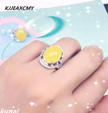 цены KJJEAXCMY Fine jewelry 925 Sterling Silver Ring female natural beeswax silver jewelry wholesale jewelry accessories
