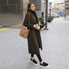 Skyesky модный бренд Для женщин зимние дизайнерские шерстяные пальто женский двубортный свободные длинные сапоги выше колена Шерстяные пиджаки sk108