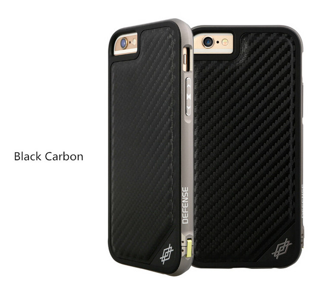 finest selection 49826 22a68 US $30.99 |Original X doria Defense LUX Ultra Thin Case Carbon Fiber Real  Leather Back Cover Metal Frame for iPhone 6 Plus/ 6s Plus 5.5inch on ...